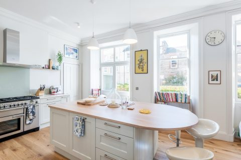 Interior and exterior photography of a private house on Morningside Terrace, Edinburgh